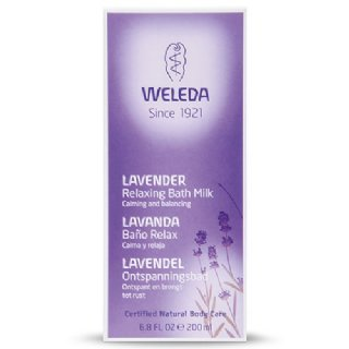 weleda lavender relaxing bath milk box