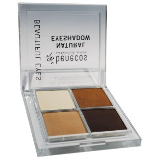 benecos natural quttro eyeshadow coffee