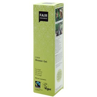 fair squared lime shower gel fair trade vegan