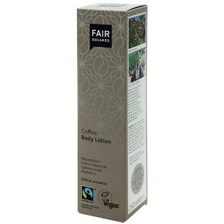 fair squared coffee body lotion fair trade vegan