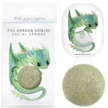 the konjac sponge co dragon green clay sponge and hook