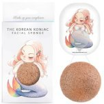 the konjac sponge co mermaid rich pink clay sponge