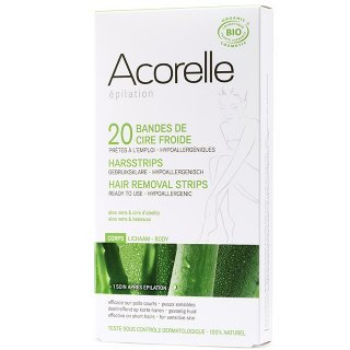 acorelle hair removal strips body natural wax strips
