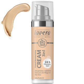 lavera tinted moisturising cream ivory nude tinted day cream