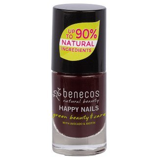 benecos nail polish vamp dark purple nail polish