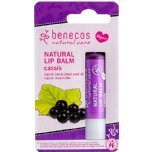 benecos natural lip balm cassis blackcurrant fruit lip balm organic