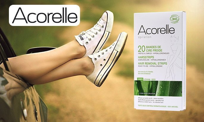acorelle natural hair removal strips