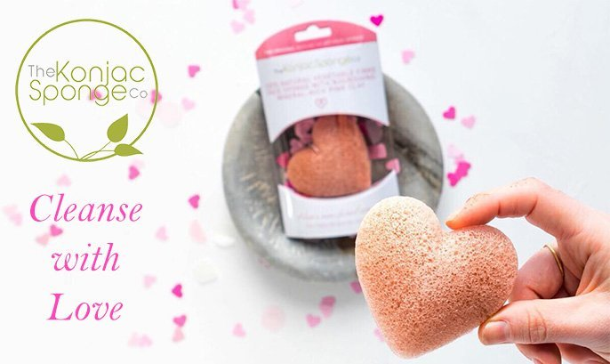 the konjac sponge co pink heart sponge