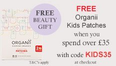 spend over £35 and get free kids cotton patches with code kids35