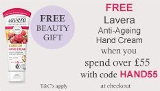 spend over £55 and get a free lavera hand cream with code HAND55