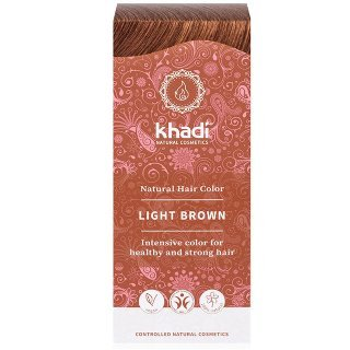khadi light brown herbal hair colour all natural me