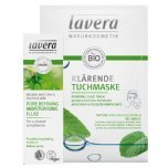 lavera purifying skincare set pore refining fluid purifying sheet mask