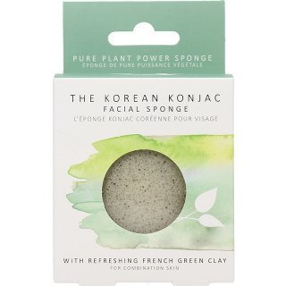 the konjac sponge co green clay facial sponge oily skin