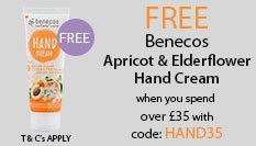 spend over £35 and get free benecos Hand Cream