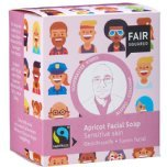 fair squared apricot facial soap zero waste cleanser