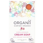organii rose and geranium cream soap vegan soap