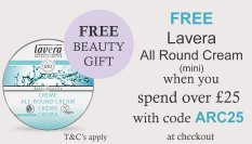 spend over £25 and get a free mini all round cream